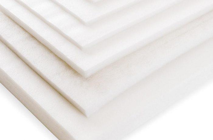 Sheets of polyethylene foam PE